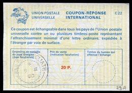 IRLANDE 20 P.  International Reply Coupon / Coupon Réponse International - Interi Postali