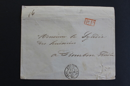 1847 LSC PARIS CAD TYPE 15 DU 10 MARS 1847 POUR BOURBON VENDEE CAD ARRIVEE DU 12/03/1847 MARQUE ROUGE PP - 1801-1848: Vorläufer XIX