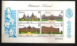 Espagne España 1989 N° BF 41 ** Patrimoine, Architecture, Monastère, Palais Royal, Madrid, Rois, Carlos, Felipe Aranjuez - 1931-Oggi: 2. Rep. - ... Juan Carlos I