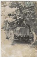 ESPALION  -  CARTE PHOTO  (située Selon Correspondance Et Cachet Postal)  Promenade En Voiture Ancienne De Début 1900 - Espalion