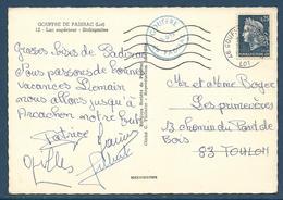Secap Avec Dateur Rond Codé 46 Gouffre De Padirac / Lot 16.8.1968 / CP Affr. 0,25 Marianne De Cheffer - Poststempel (Briefe)