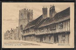 CPA ANGLETERRE - Stratford-on-Avon, Grammar School - Illustration à L'encre De Chine - Stratford Upon Avon