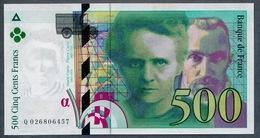 500 Francs Type Pierre & Marie Curie 1994  NEUF    Fay 76-01 - 1992-2000 Laatste Reeks
