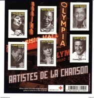 Bloc Artistes De La Chanson, N° 4605 à 4612 - Blocs & Feuillets