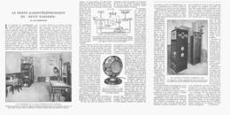"LE POSTE RADIOTELEPHONIQUE  Du  "" PETIT-PARISIEN "" 1924 - Ciencia & Tecnología"
