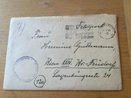 K3 Deutsches Reich 1945 Feldpostbrief Von Stralsund Nach Wien Mit Inhalt - Briefe U. Dokumente