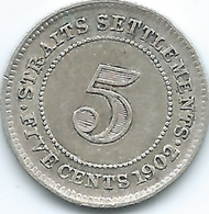 Straits Settlements - 1902 - Edward VII - 5 Cents - KM20 - Colonies