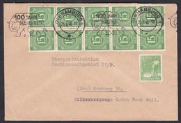 Km_ All. Besetzung - Brief Mi.Nr. 922 - 23.06.48 - Hamburg 100 Jahre Hagenbeck - Letzttag Zehnfachfrankatur - Zone AAS