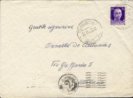 1942 SASENO/ISOLA C2 (22.11) Su Busta - 9. WW II Occupation (Italian)