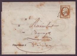 VENDEE - LAC - LUCHON (1860) + PC 1792 Sur N° 13 Sur Avis De Reception De Chargement N° 103 Des Sables D'Olonnes (79) - 1849-1876: Classic Period