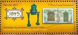Brazil Stamp C 3255 Selo 350 Anos Dos Correios 2013 Postal Service Mail Box - Ongebruikt