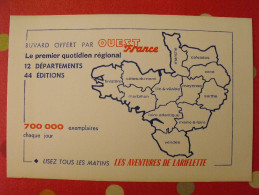 Buvard Ouest-france Les Aventures De Lariflette. Vers 1950 - Löschblätter, Heftumschläge