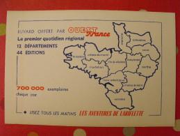 Buvard Ouest-france Les Aventures De Lariflette. Vers 1950 - Buvards, Protège-cahiers Illustrés