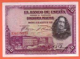 ESPAGNE - 50 Pesetas Du 15 08 1928 - Pick 75b - NEUF - 50 Pesetas