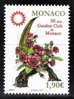 MONACO 2018 - Y. T. N° 3128 / 50 ANS DU GARDEN CLUB DE MONACO  - NEUF ** - Nuovi