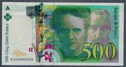 500 Francs Type Pierre & Marie Curie 1994  FAUX D'époque NEUF - 1992-2000 Laatste Reeks