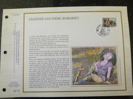 """BELG.1992 2465 : """" LEGENDE VAN FIERE MARGRIET """" Filatelistische Kaart Zijde NL.(CEF), Gelimiteerde Oplage - FDC"""