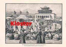 496 Lamaitenkloster Gänsesee Sibirien Artikel Mit 3 Bildern 1898 !! - Libros, Revistas, Cómics