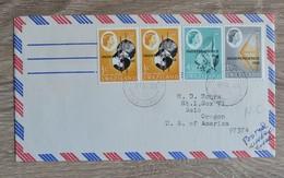 TIMBRES AFRIQUE  SWAZILAND  INDEPENDENCE 1968 SUR  LETTRE COVER  TRES BON ETAT  VOIR SCANS - Timbres