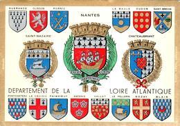Carte 1960 Blason ,écusson ,armoiries Villes De Loire Atlantique Clisson ,Pornic,Nozay ,Vallet,Pontchateau,Paimboeuf.. . - France