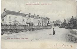 SILLE Le GUILLAUME: Place De La Gare - Sortie De La Cour De La Petite Vitesse- Besnardeau Lib. édit 1906 - Sille Le Guillaume