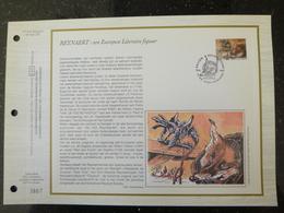 """BELG.1992 2467 : """" REYNAEART """" Filatelistische Kaart Zijde NL.(CEF), Gelimiteerde Oplage - FDC"""