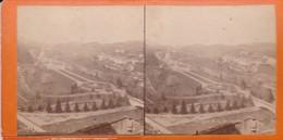 Carte STEREOSCOPIQUE LOURDES . Basilique N-D. De Lourdes (Sur Carton Rigide 8,5 X 18 Photo P. VIRON Lourdes) - Cartoline Stereoscopiche