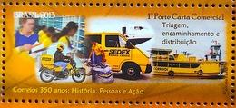 Brazil Stamp C 3270 Selo 350 Anos Dos Correios 2013 Postal Service Airplane Moto Ship Car - Ungebraucht
