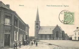 Belgique - Mons - Havré - Place Communale Et L' Eglise - Mons