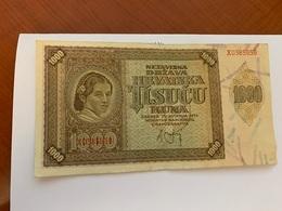 Croatia 1000 Kuna Banknote 1941 #2 - Croatia