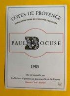13899 -  Côtes De Provence 1985 Paul Bocuse - Languedoc-Roussillon