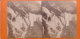 Carte STEREOSCOPIQUE LOURDES . Route De Gavarnie, L 'hiver  (Sur Carton Rigide 8,5 X 18 Photo P. VIRON Lourdes) - Cartoline Stereoscopiche