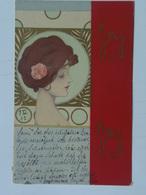 Raphael Kirchner 52 G-6 Girls Faces With Red Border Visages De Fillesavec Bordure Rouge 1901 - Kirchner, Raphael