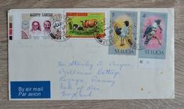 TIMBRES ST LUCIA  ST LUCIE SUR  LETTRE COVER   TRES BON ETAT  VOIR SCANS - St.Lucie (1979-...)