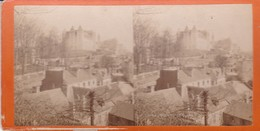 Carte STEREOSCOPIQUE LOURDES . Pau Vu Du Pont   (Sur Carton Rigide 8,5 X 18 Photo P. VIRON Lourdes) - Cartoline Stereoscopiche