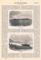 505 Spitzbergen Eisfjord Fjord Schiffe Svalbart Artikel Mit 4 Bildern 1897 !! - Norvège