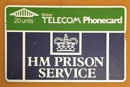HM PRISON SERVICE BRITISH TELECOM PHONECARD 20U CARD POUR LA COLLECTION - Ver. Königreich