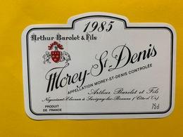 13907 -  Morey-St-Denis 1985 Arthur Barolet & Fils - Bourgogne