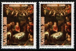 A163-KOLUMBIEN / COLOMBIA.- MNH - 2008 - CHRISTMAS / NAVIDAD- 2 DIFFERENT VALUES - Colombie