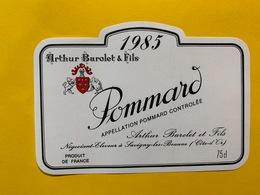 13910 - Pommard 1985 Arthur Barolet & Fils - Bourgogne