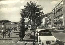 """8011 """"RIVIERA DEI FIORI-ALASSIO-LUNGOMARE DI PONENTE""""FIAT 1500 CABRIO PININFAR. E ALTRE '60- CART. POST. ORIG. SPED.1967 - Savona"""