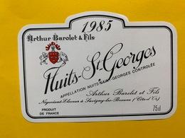 13913 - Nuits-St.Georges 1985 Arthur Barolet & Fils - Bourgogne