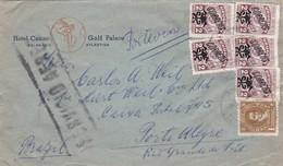 HOTEL CASINO, GOLF PALACE. URUGUAY ENVELOPE CIRCULEE DE BALNEARIO ATLANTIDA A PORTO ALEGRE, BRESIL ANNEE 1948 -LILHU - Uruguay