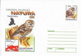 ROUMANIE - 2001 - Entier Postal Neuf - Chouette Chevêche - Postal Stationery