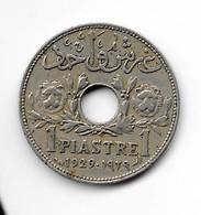 SYRIE - 1 PIASTRE 1929 - - Syria
