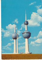 Kuwait Postcard Sent To Denmark 24-7-1979 (Kuwait Towers) - Koweït