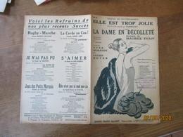 """ELLE EST TROP JOLIE COUPLETS DE LA COMEDIE MUSICALE """"LA DAME EN DECOLLETE"""" DE YVES MIRANDE ET LUCIEN BOYER MUSIQUE MAURI - Scores & Partitions"""