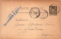55 ETAIN : Entiers Postaux - Année 1890 Décembre - J. MINAUX - Etain