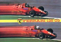 MOTOR RACING - AUTOMOBILISMO - FERRARI 126 C3 - CON TIMBRO ORIGINALE A RETRO DELL'AUTODROMO DI MONZA - N 3/287 - Grand Prix / F1