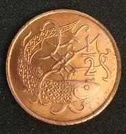 ILE DE MAN - ISLE OF MAN - ½ - 1/2 PENNY 1983 - Elizabeth II ( 2eme Effigie ) - KM 58 - Monnaies Régionales